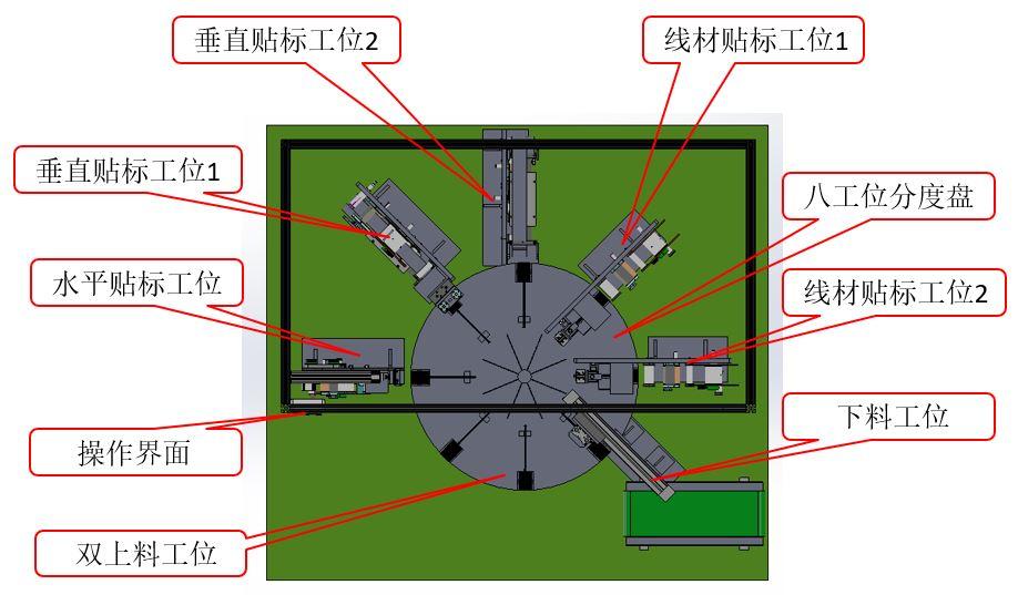 电源适配器贴标工作站819F